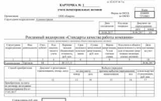 Учет нематериальных активов в бухгалтерском учете: форма НМА-1