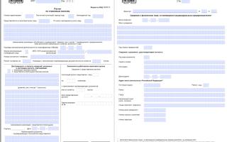 Нулевая РСВ-1: образец заполнения , какие разделы сдавать в ПФР