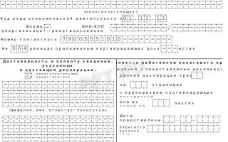 Декларация ЕСХН: бланк, сроки и образец заполнения