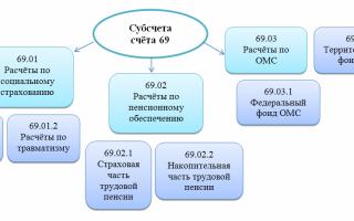 Счет 69 в бухгалтерском учете: основные субсчета и проводки