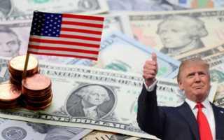 Средняя заработная плата в США  за месяц