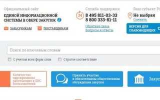 КТРУ ЕИС : использование каталога товаров, работ и услуг для госзакупок