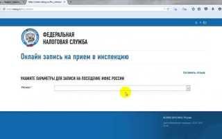 Как сделать запись в налоговую инспекцию онлайн
