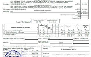 Правила заполнения товарной накладной: образец, порядок оформления ТОРГ-12
