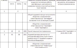 Выдача дубликата трудовой книжки: образец заполнения, составление приказа
