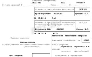 Штраф за отсутствие путевого листа для ИП и организаций