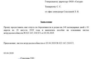 Заявление на оплату больничного листа: образец