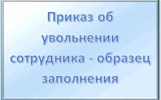 Образец приказа об увольнении по форме Т-8