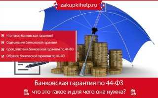 Срок действия банковской гарантии по ФЗ №44