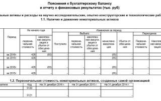 Пояснительная записка к бухгалтерскому балансу: основные пояснения к годовому отчету, форма №5
